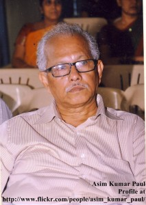 Asim Kumar Paul, sitting at International Poetry Fest-2012, Guntur, AP, India